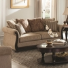 Beasley Traditional Sofa with Rolled Arms and Wood Trim