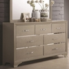 Beaumont Seven Drawer Dresser with Felt Lined Top Drawers