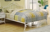 Bella Full Youth Bed in White Metal