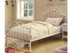 Bella Twin Youth Bed in White Metal