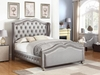 Belmont Eastern King Upholstered Bed with Tufted Wing Headboard