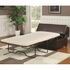 Benches Brown Upholstered Bench with Fold Out Sleeper & Casters