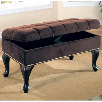 Benches Storage Bench with Tufted Buttons