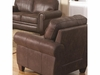 Bentley Rustic Styled Chair with Microfiber Upholstery
