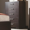 Berkshire 5 Drawer Chest with Chrome Hardware