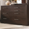 Berkshire 7 Drawer Dresser with Chrome Hardware