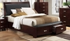 BI-Cast Vinyl Queen Bed with drawers