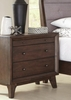 Bingham 3 Drawer Night Stand with Top Felt-Lined Drawer