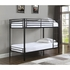 Boltzero Contemporary Metal Twin Over Twin Bunk Bed