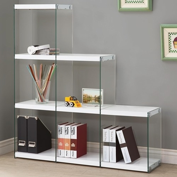 Bookcase with Glass Sides