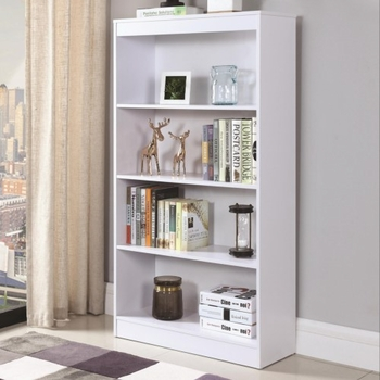 Bookcases 4 Shelf Transitional Bookcase