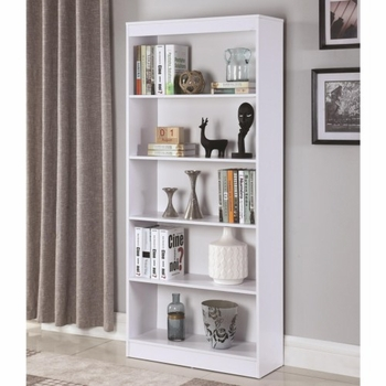 Bookcases 5 Shelf Transitional Bookcase