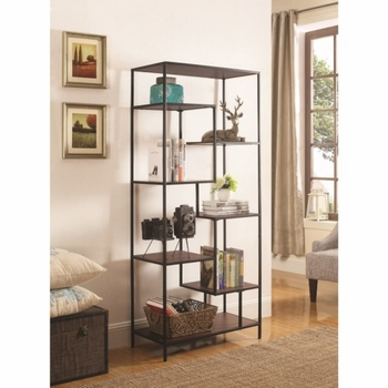 Bookcases 7 Shelf Steel Framed Bookcase