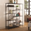 Bookcases Modern Bookcase with Offset Shelves