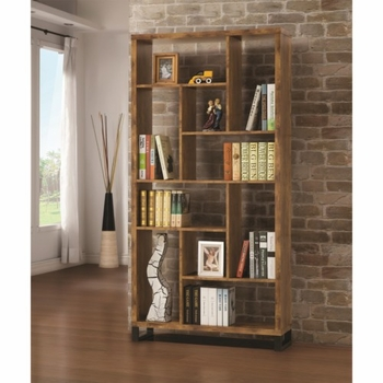 Bookcases Open Bookcase with Different Sized Cubbies