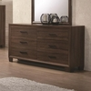 Brandon Transitional Six Drawer Dresser