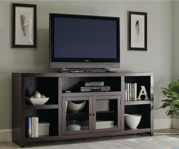 Breckinridge Transitional TV Stand with Glass Doors by Scott Living