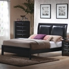 Briana King Low Profile Footboard Bed with Upholstered Headboard