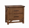 Bridgeport Nightstand with 2 Drawers and Rivet Details