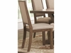 Bridgeport Rustic Solid Wood Upholstered Side Chair