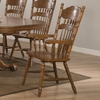 Brooks Country Oak Finish Arm Chair with Turned Spindles