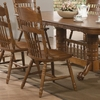 Brooks Country Oak Finish Side Chair with Turned Spindles