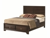 Bryce 20347 California King Bed with Panel Headboard and Storage Footboard