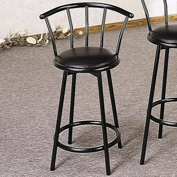 "Buckner 24"" Metal 2395 Stool with Faux Leather Swivel Seat"