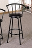 "Buckner 29"" Casual Metal Bar Stool with Faux Leather Swivel Seat"