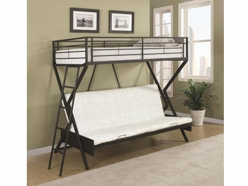 Bunks Convertible Futon Bed with Futon Mattress Furniture