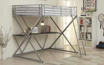 Bunks full Workstation Loft Bed with Desk