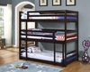 Bunks Triple Layer Bunk Bed with Cappuccino Finish