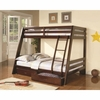 Bunks Twin-over-Full Bunk Bed with 2 Storage Drawers