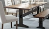 Burnham Two-Tone Live Edge Dining Table with Trestle Base by Scott Living