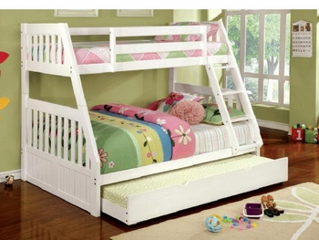Canberra II full/Twin bunk bed with optional trundel