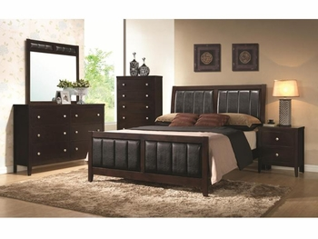 4 PC Carlton Upholstered bedroom Furniture