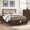Carrington Queen Storage Bed with Upholstered Headboard