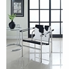 CHARLES PONY HIDE LOUNGE CHAIR IN BLACK AND WHITE