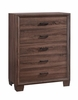 Brandon 5-Drawer Chest Medium Warm Brown # 205325