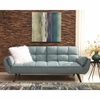 Caufield Biscuit-Tufted Sofa Bed Turquoise Blue 360097