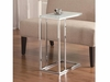 Chrome Snack Table with Frosted Tempered Glass Top