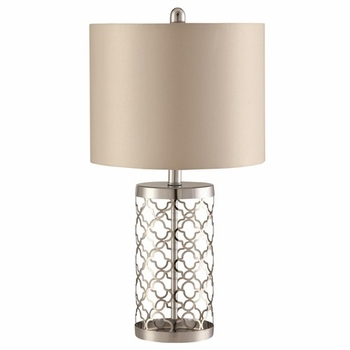 Drum Table Lamp Light Gold And Beige # 901314
