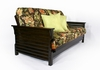 full size Plantation futon frame Wall Hugger / 5 Year Warranty