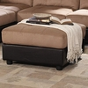 Claude Contemporary Two Tone Ottoman