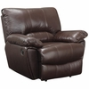 Clifford Brown Leather Recliner with Pillow Arms