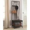 Coat Racks Hall Tree with Storage Bench