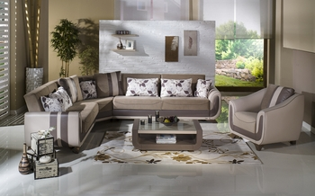 Colombia Modern sectional w/ bed/storage