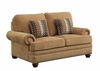 Colton Traditional Loveseat with Rolled Arms