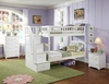 Columbia Staircase Twin/Twin White Bunk Bed Children Bedroom Furniture