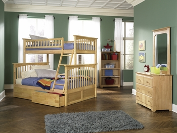 Columbia Twin/Full Bunk Bed Youth Bedroom Furniture storage optional